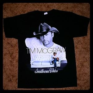 Tim Mcgraw Southern Voice Tour Dates T-shirt Black